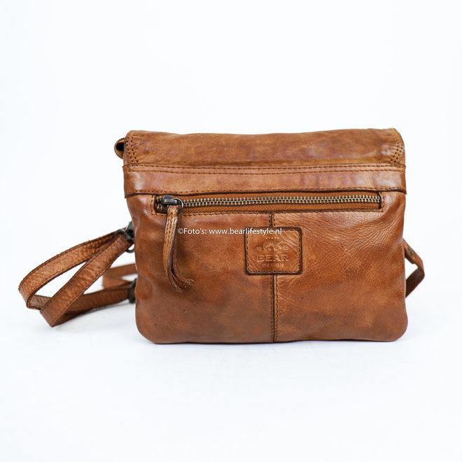 Umschlagtasche 'Mai' - CL 36810 Cognac
