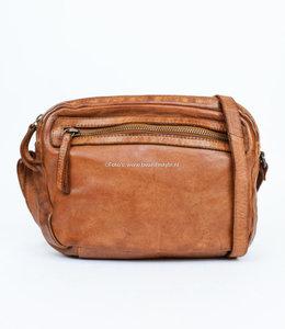 Bear Design Kleine Reißverschlusstasche 'Niene' CL 36695 Cognac