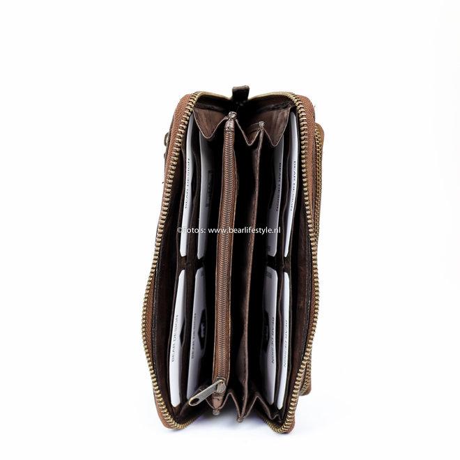 Ritsportemonnee groot - Bruin CL14851