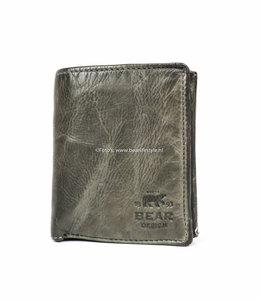 Bear Design Billfold Hoog - Grijs CL7252