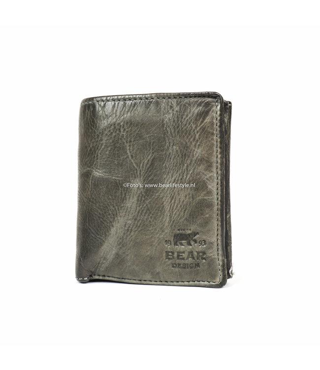 Bear Design Geldbörse / Brieftasche CL7252 Grau