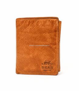 Bear Design Billfold Hoog - Cognac CL7252