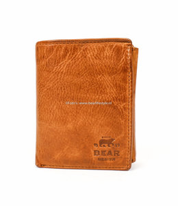 Bear Design Geldbörse / Brieftasche CL7252 Cognac