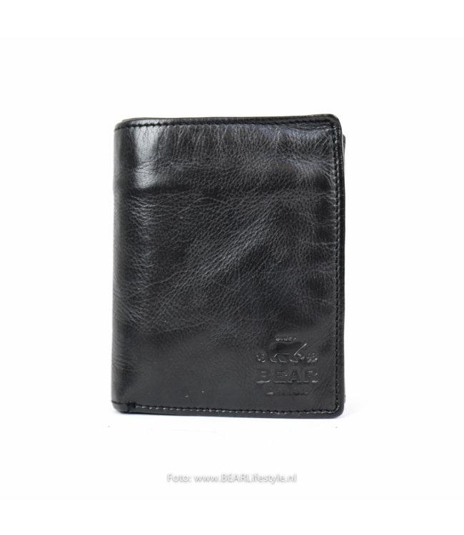 Bear Design Geldbörse / Brieftasche CL7252 Schwarz