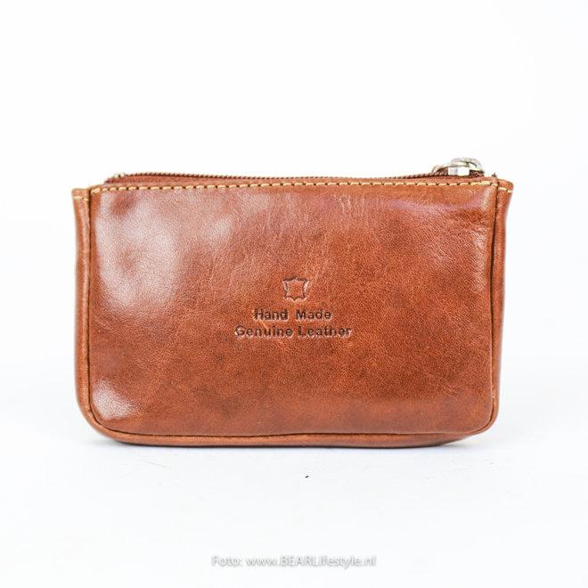Sleutel/Losgeld Portemonnee - Cognac RO7616