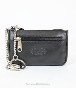 Bear Design Sleutel/Losgeld Portemonnee FR7616 Zwart