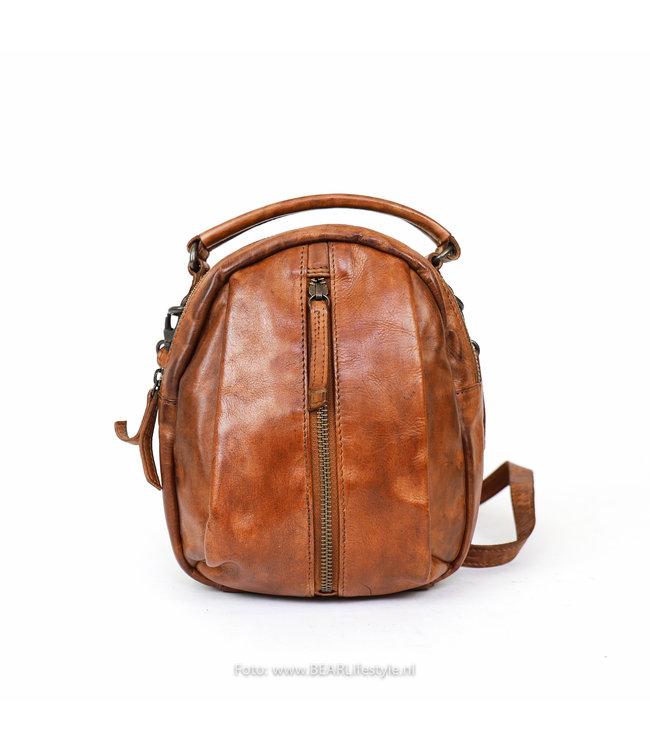 Bear Design Mini Rugzakje/Schoudertasje CL 36771 'Mimi' - Cognac