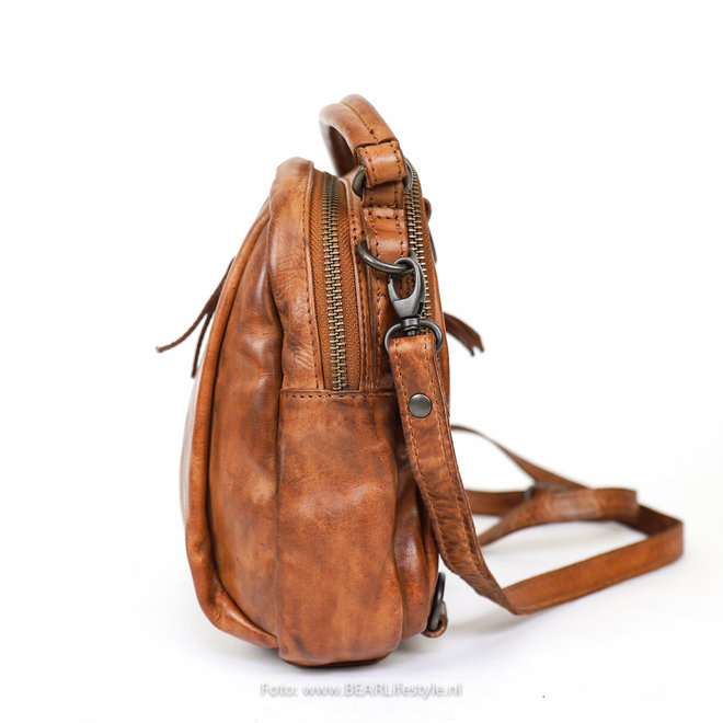 Mini Rucksack / Umhängetasche CL 36771 'Mimi' - Cognac
