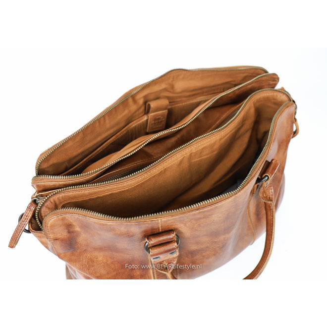 Laptoptas/handtas CL 36821 'Alex' - Cognac