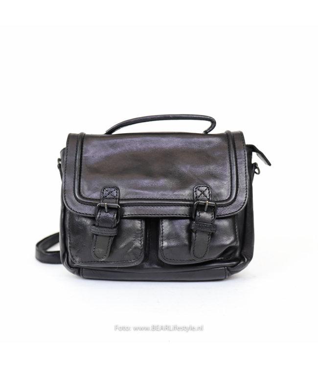 Bear Design Rugzakje/akte tasje CL 36772 'Emma' - Zwart