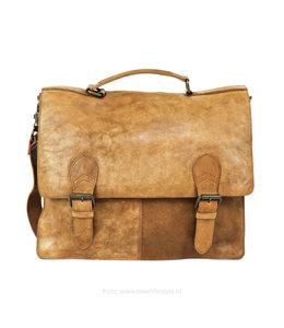 Bear Design Arbeits- / Laptoptasche mit Schnalle 'Guus' - Beige CL32844