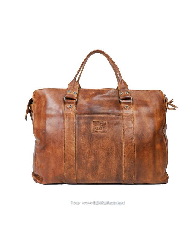 Bear Design Laptoptas/handtas CL 36821 'Alex' - Cognac