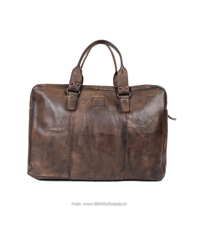 Bear Design Laptoptasche / Handtasche CL 36820 'Puck' - Braun