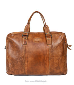 Bear Design Laptoptasche / Handtasche CL 36820 'Puck' - Cognac