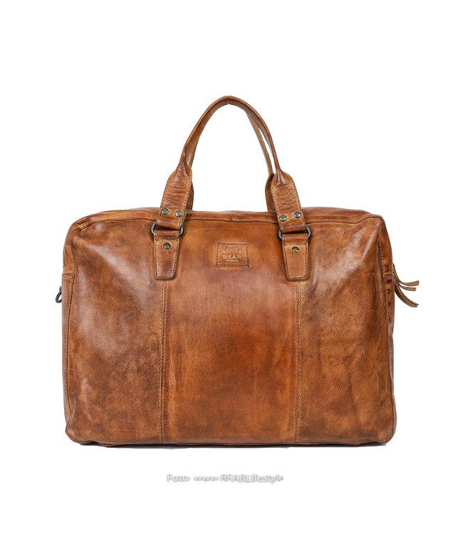 Bear Design Laptoptasche / Handtasche CL 36820 'Puck' - Cognac