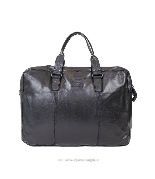 Bear Design Laptoptasche / Handtasche CL 36820 'Puck' - Schwarz