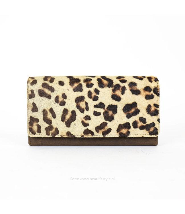 Bear Design Brieftasche - Cow Braun Leopard HH9918-2