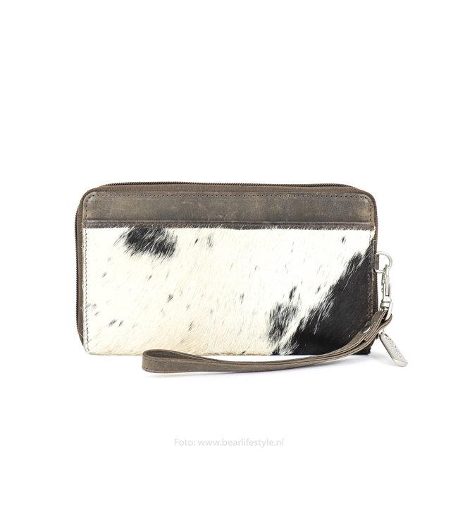 Bear Design Zip Wallet / Clutch Cow - Braun HH9165-1