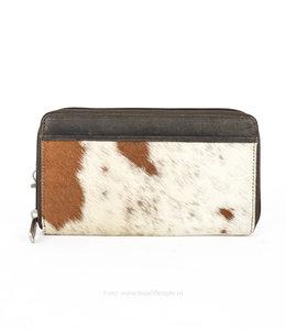 Bear Design Zip Wallet / Clutch Cow - Braun HH9165-8