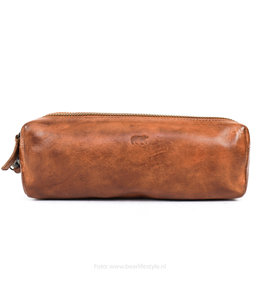 Bear Design Etui - zwei Fächern CL 16111 Cognac
