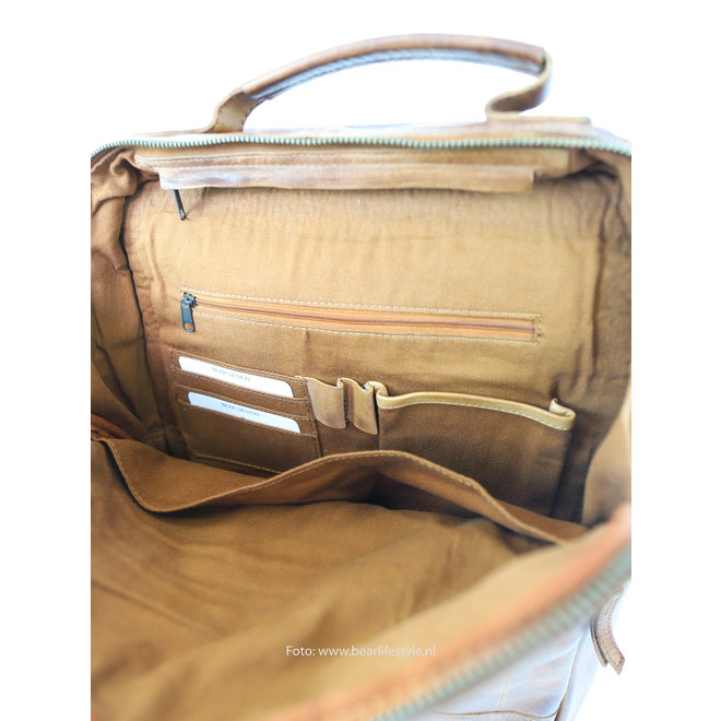 CL35278 Laptoptas/Rugzak 'Celso' - Cognac
