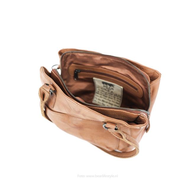Hand-/Schultertasche 'Rita' - CP1201 Cognac