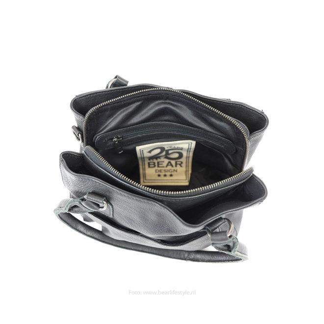 Klein Hand-/Schoudertasje 'Rita' - Zwart CP1201