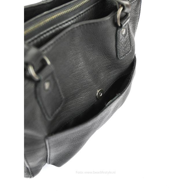 Handtasche/Schultertasche Rita CP1201 Schwarz