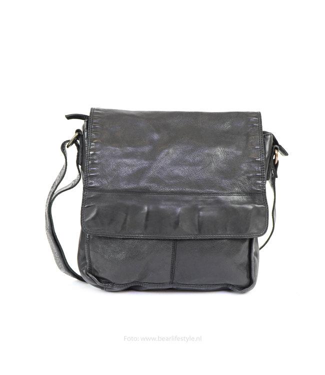 Bear Design Schoudertas met flap CL32961 Zwart