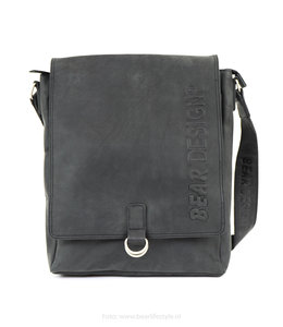 Bear Design Unisex schoudertas - Zwart YN6848
