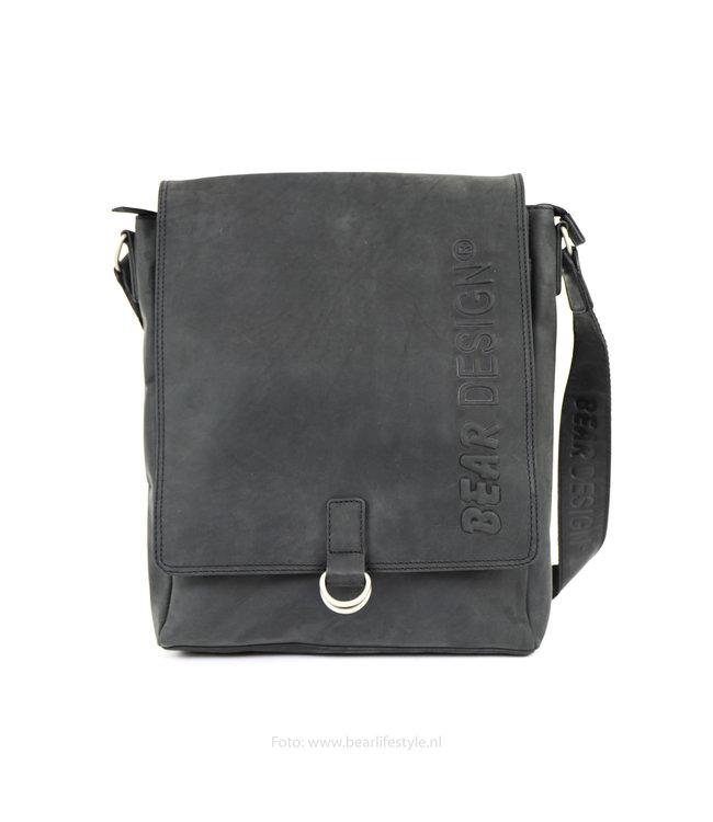 Bear Design Unisex-Umhängetasche - Schwarz YN6848
