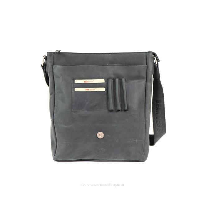Unisex schoudertas - Zwart YN6848