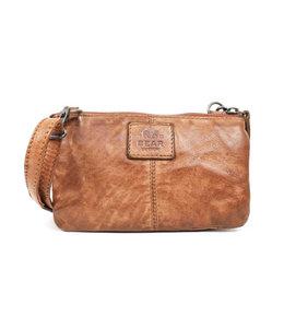 Bear Design Geldbörse Tasche / Umhängetasche Umi 1 CL4887 Cognac