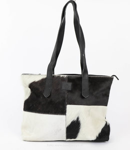 Bear Design Cow Shopper 'Linda' Medium Zwart HH32638