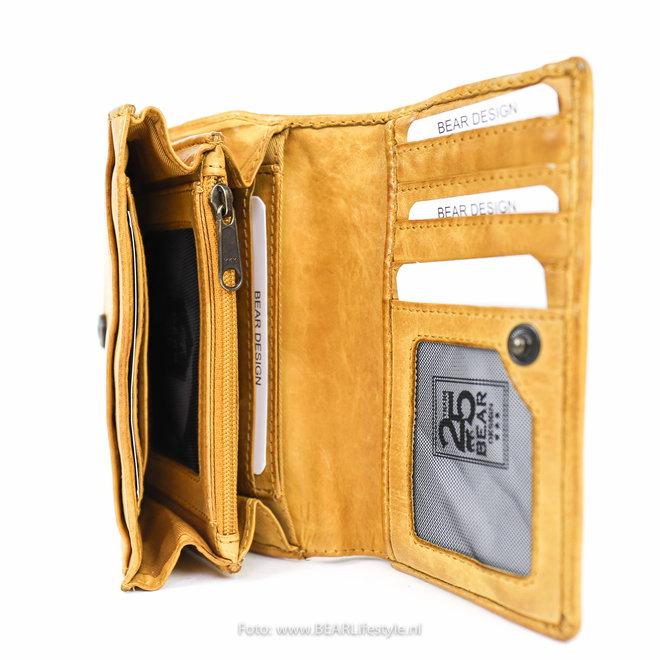 Kleine dames portemonnee - CL 15572 Geel