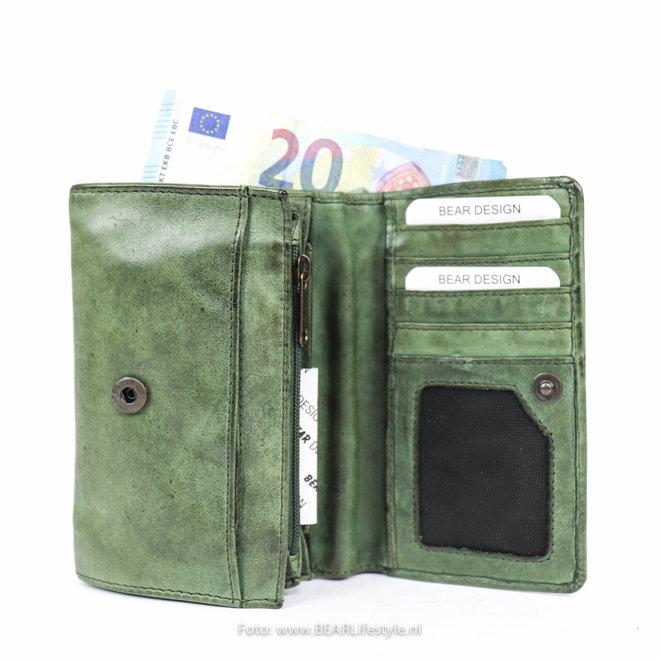 Kleine dames portemonnee - CL 15572 groen