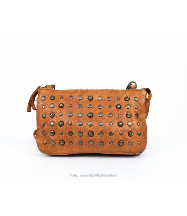 Bear Design Geldbörse/Schultertasche  - CL 36798 Cognac