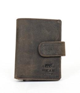 Bear Design Kleine Geldbörse Anti Skim HD 15635 Bruin