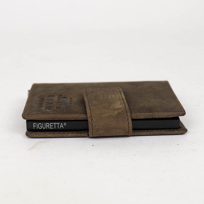 HD15254 Mini Portemonnaie RFID - Braun Figuretta
