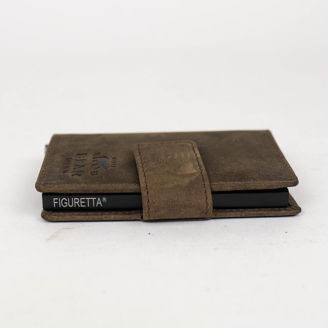 Mini Portemonnee RFID - Donkerbruin HD15254
