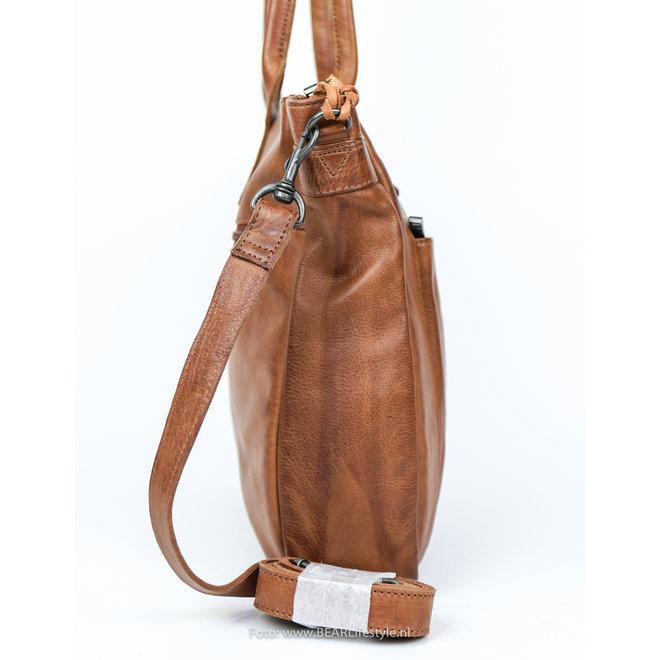 Hand-/Schoudertas 'Samantha' Cognac CP 1766