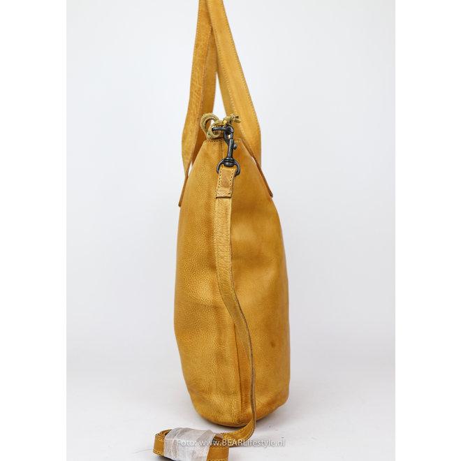 Shopper met schouderband 'Juul' - Geel CP2087