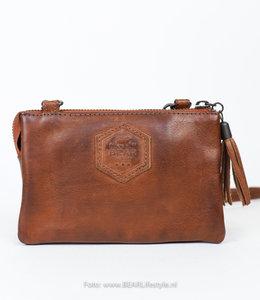 Bear Design Geldbörse Tasche / Umhängetasche Umi 1 CP4887 Cognac
