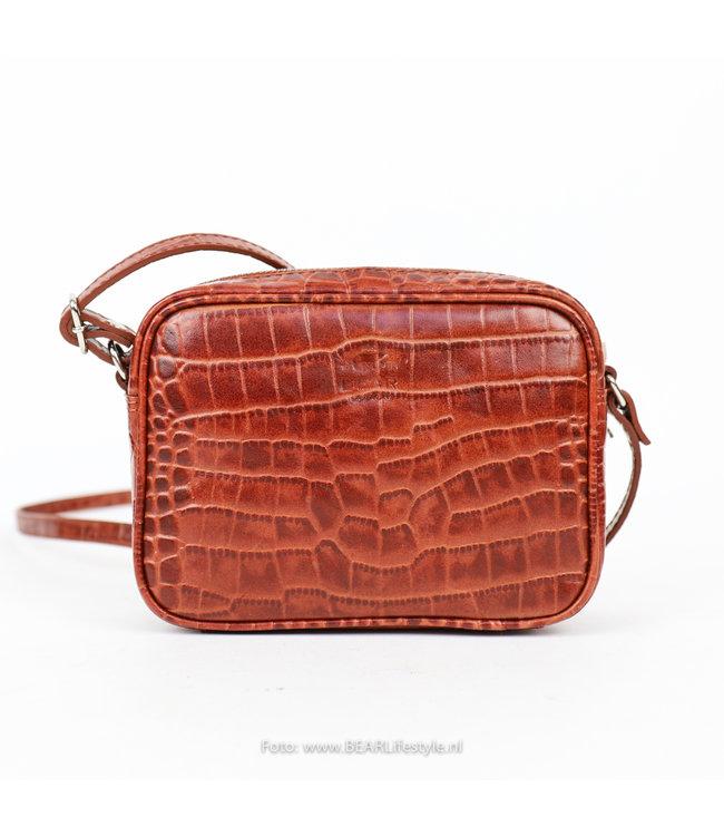 Bear Design Schultertasche Snake - Cognac 35928 'Beau'