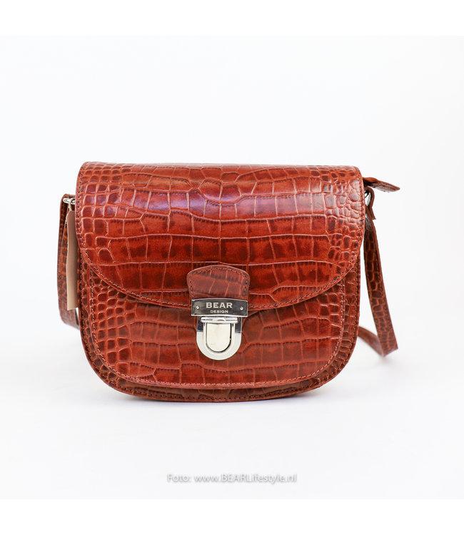 Bear Design Schultertasche Snake Größ - Cognac 35930