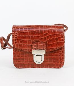 Bear Design Schultertasche Snake Klein - Cognac 35930