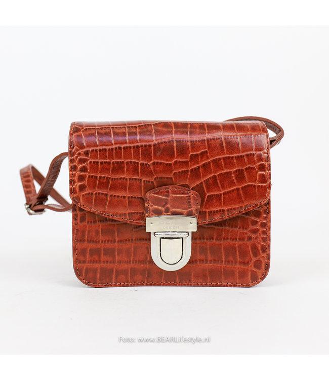 Bear Design Schoudertasje Snake Klein - Cognac 35929