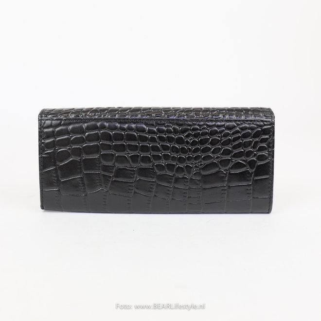 Brieftasche - Croco JS15124 Schwarz