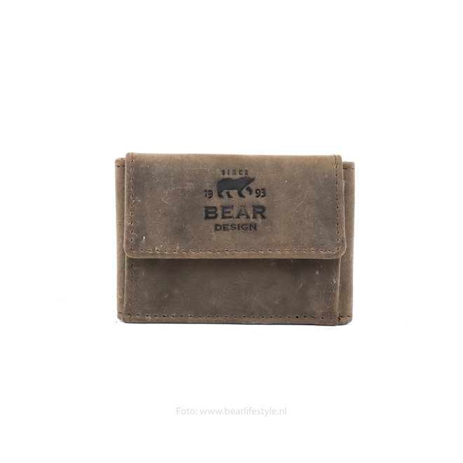 Mini portemonnee - HD 14578 Bruin