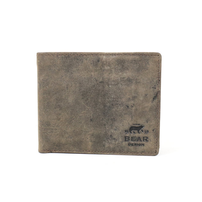 Billfold zonder muntvak HD 14588 Donkerbruin RFID